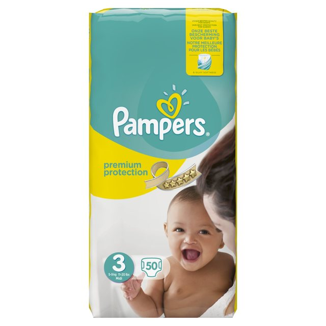 pampers premium protection s3 50 couches prix par couche pampers wk 119 2 wekapromo. Black Bedroom Furniture Sets. Home Design Ideas